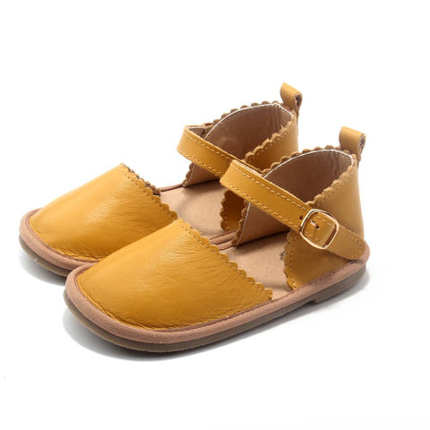 The Sweetheart Collection - 100% Textured Leather - Mustard-Lilypond Kids