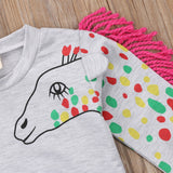 Babies Unicorn Print Hooded Sweatshirt 3-24 Months-Lilypond Kids