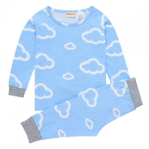 Baby Boys Cloud Pyjama Set - Blue-Lilypond Kids