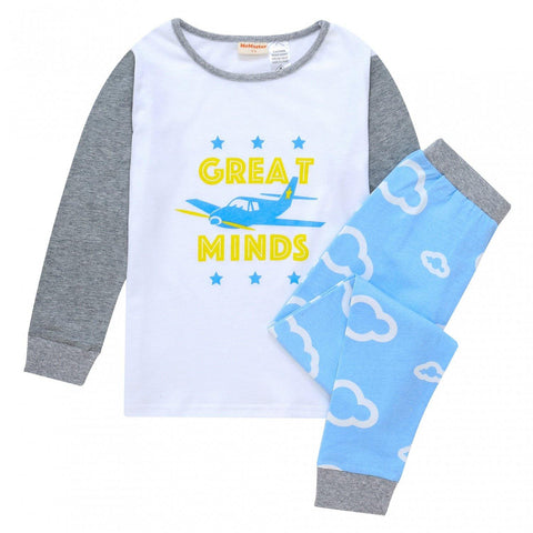 Baby Boys Cloud & Airplane Pyjama Set-Lilypond Kids