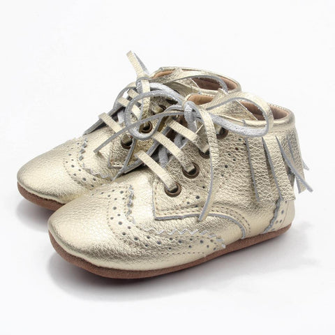 The Blake Boot Collection - 100% Leather - Gold-Lilypond Kids