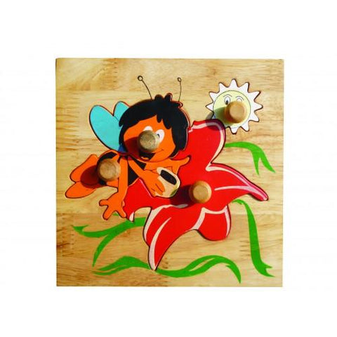 Bee And Flower Puzzle-Lilypond Kids