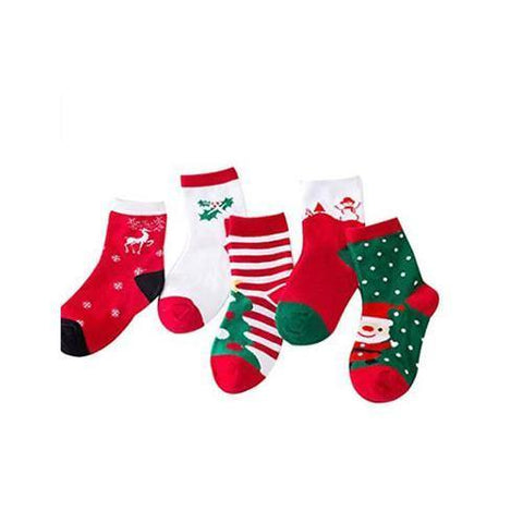 5 Pairs Children Christmas Socks-Lilypond Kids