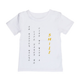 MLW By Design Tee Shirt - Smile Print - Black or White-Lilypond Kids