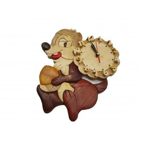 Squirrel Wooden Clock-Lilypond Kids