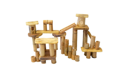 Bamboo building set 50 pcs-Lilypond Kids