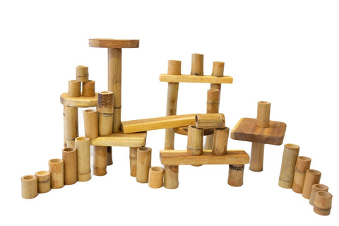 Bamboo building set 46 pcs-Lilypond Kids