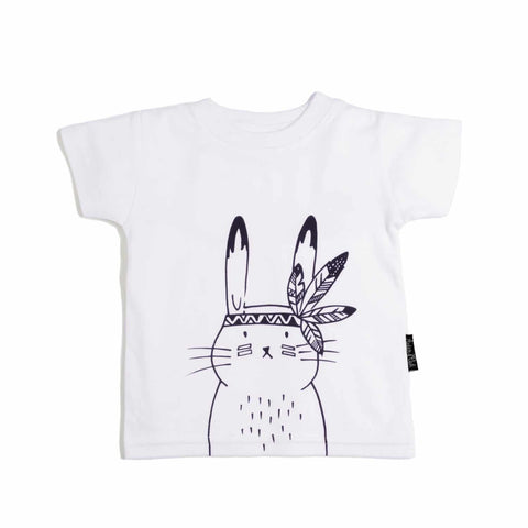 Bunny Chief Tee Shirt - Organic Cotton White-Lilypond Kids