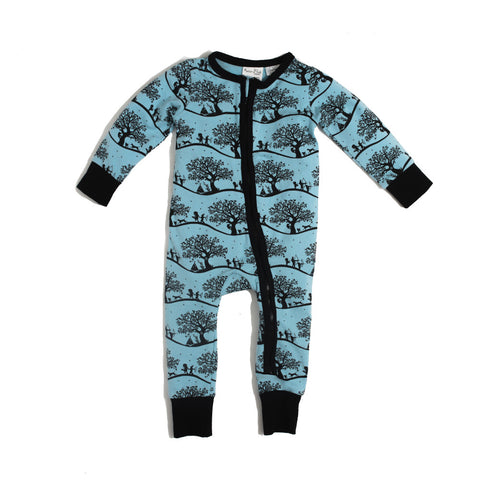 Enchanted Fields 2 Way Zip Romper-Lilypond Kids