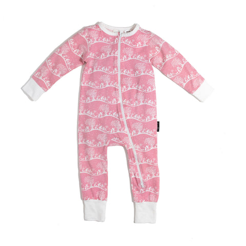Enchanted Meadow 2 Way Zip Romper-Lilypond Kids