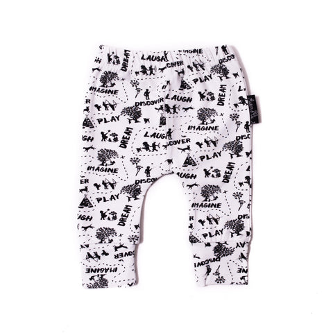 Enchanted Mono Map Leggings-Lilypond Kids