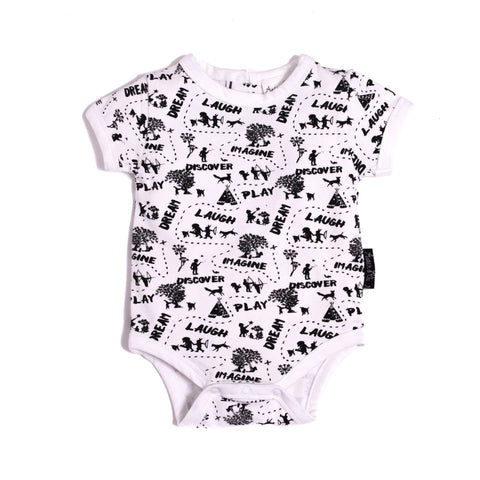 Enchanted Mono Map Onesie - Lilypond Kids