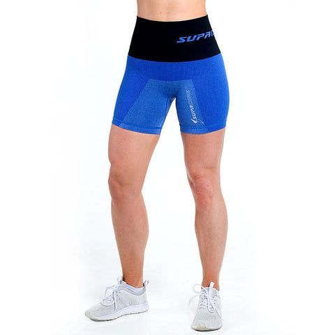 Patented Women's Coretech® Injury Recovery And Postpartum Compression Shorts (Blue)-Lilypond Kids