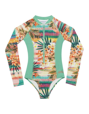Sunset Long Sleeve Surf One Piece-Lilypond Kids