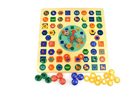 2 In 1 Animal Ludo Game-Lilypond Kids