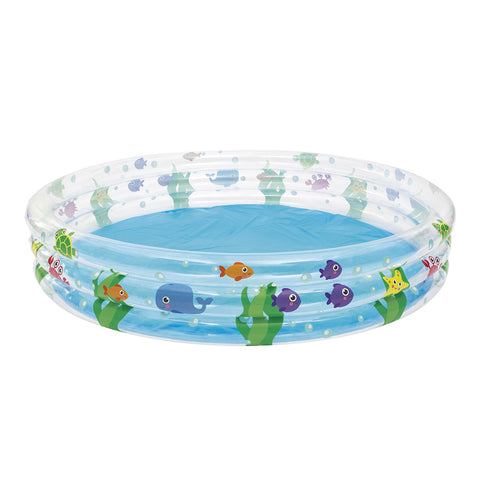 Bestway Above Ground Kids Play Pool Inflatable Family Round Clear-Lilypond Kids