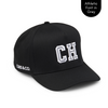 Personalised Snapback Hat - Black With Initials-Lilypond Kids