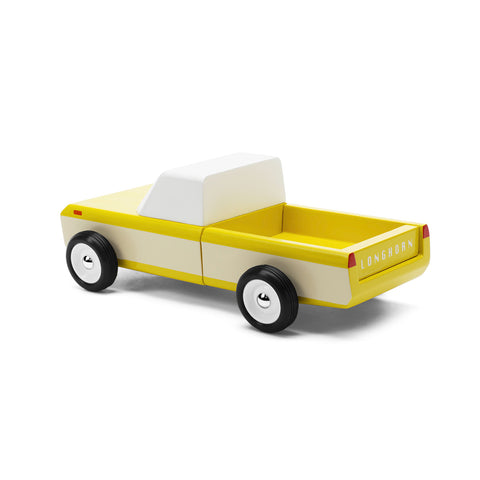 Longhorn Yellow Toy Car-Lilypond Kids