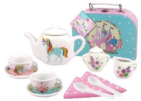 13pcs Unicorn Porcelain Tea Set-Lilypond Kids