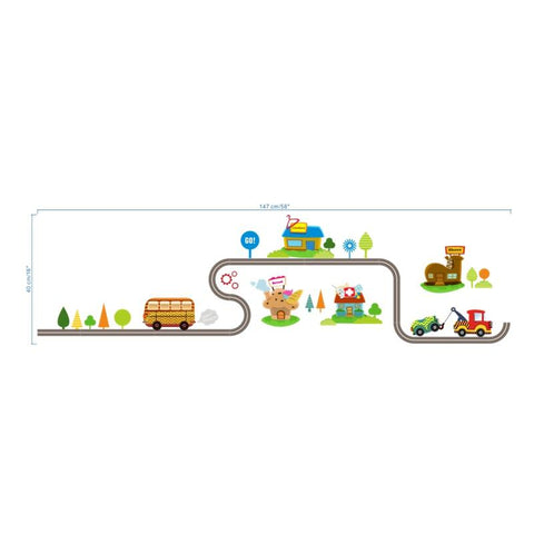 Highway Road Nursery Wall Stickers-Lilypond Kids