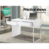 Office Computer Desk Table w/ Drawers White-Lilypond Kids