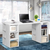 Computer Desk with 3 tier Storage Shelves White-Lilypond Kids