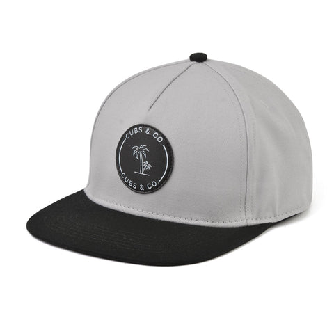 Signature Snapback Hat - Grey With Logo-Lilypond Kids