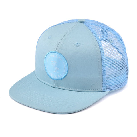 Signature Blue Snapback Hat With Logo-Lilypond Kids