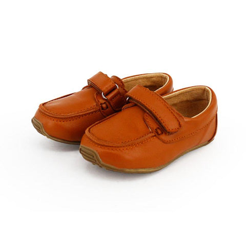 Kids Leather Deck Shoes Tan-Lilypond Kids
