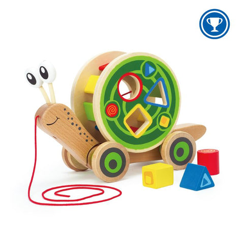 Hape Snail Pull and Play Shape Sorter-Lilypond Kids