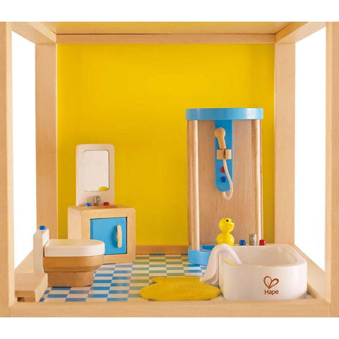 Hape All Seasons Dollhouse Modern Bathroom 7 Pieces-Lilypond Kids