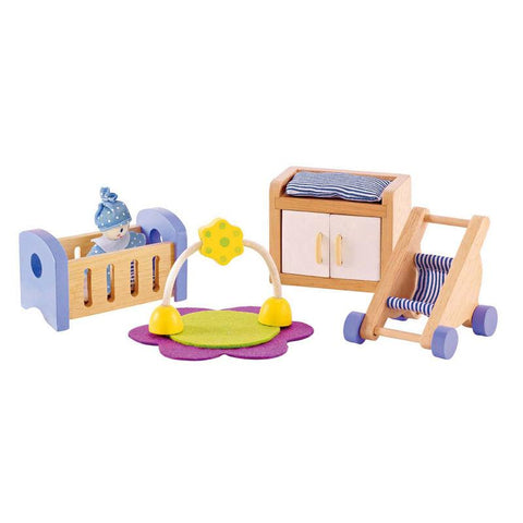 Hape All Seasons Dollhouse Baby Room 8 Pieces-Lilypond Kids