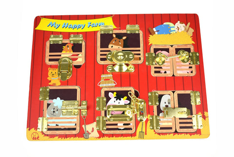 Latches Puzzle My Happy Farm-Lilypond Kids