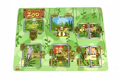 Latches Puzzle My Funny Zoo-Lilypond Kids