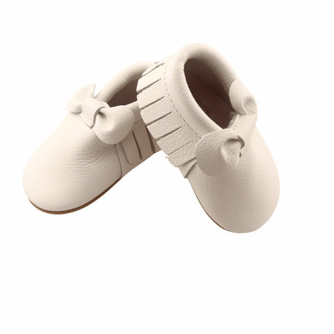 White Bow Moccasins-Lilypond Kids