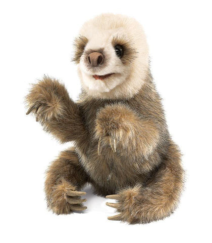 Folkmanis Baby Sloth Puppet-Lilypond Kids