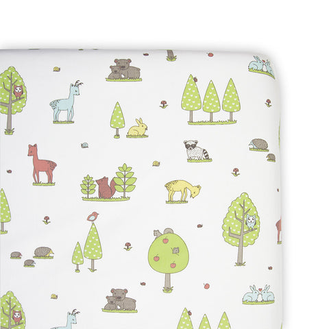 Weegoamigo Fitted Cot Sheet - Forest Friends-Lilypond Kids