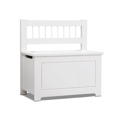 Artiss Kids Toy Box Storage Cabinet - White-Lilypond Kids