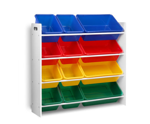 12 Bin Toy Organiser Storage Rack-Lilypond Kids
