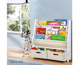 4 Tier Wooden Kids Bookshelf - White-Lilypond Kids