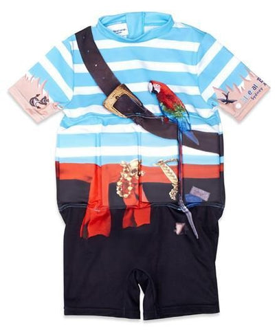 Bluesalt Pirate Boys Float Suit With Adjustable Buoyancy Panels-Lilypond Kids