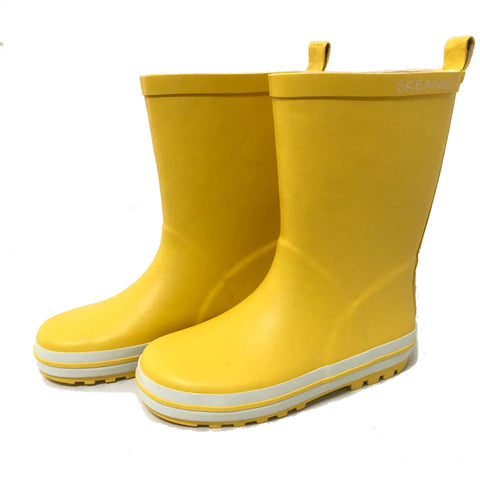 Kids Rubber Gumboots Yellow-Lilypond Kids