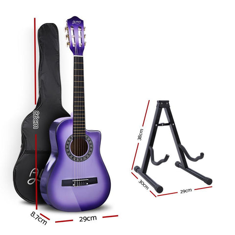 Alpha 1/2 Size Kids Acoustic Guitar - Purple with Capo Tuner-Lilypond Kids
