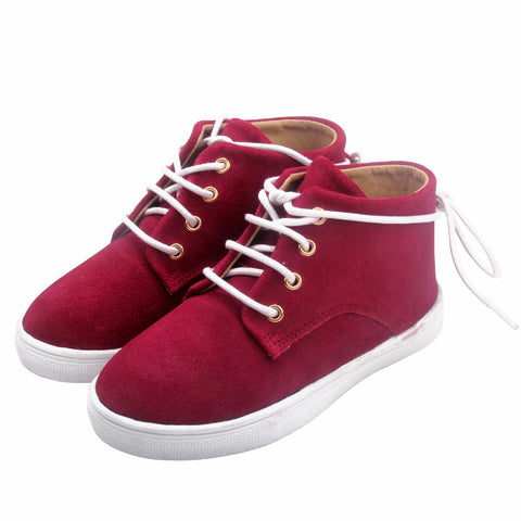 The Gelato Collection - 100% Suede - Maroon-Lilypond Kids