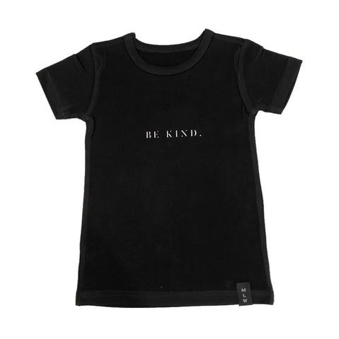 MLW By Design - Be Kind Tee | Black or White-Lilypond Kids