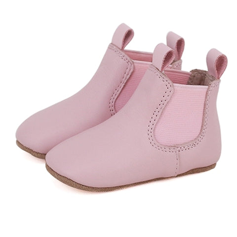 Pre-Walker Leather Riding Boots Pink-Lilypond Kids