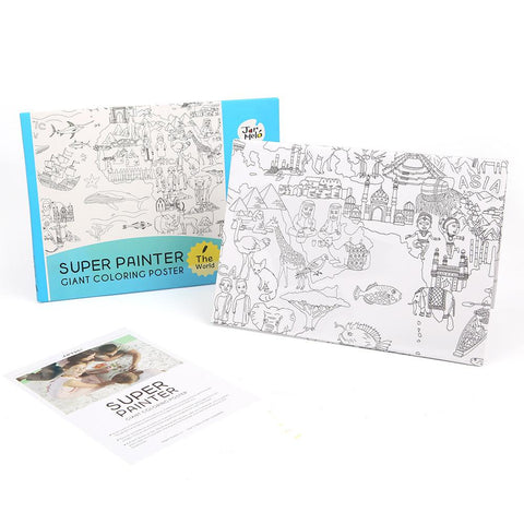 Giant Colouring Poster Pads - The World-Lilypond Kids