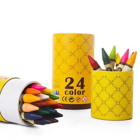 Washable Crayons - 24 Colours-Lilypond Kids