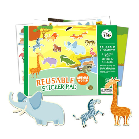Reusable Sticker Pad Set - Animal World-Lilypond Kids