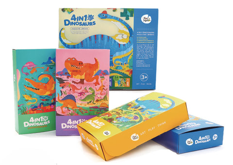 Luminous 4 In 1 Dinosaurs Puzzles-Lilypond Kids